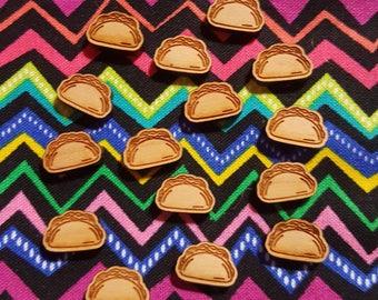 Tacos Earrings, Wooden Taco Earrings, Tiny Tacos