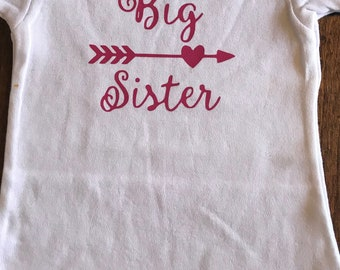 Big Sister Shirt, Sibling Shirt, Birth Announcement Shirt
