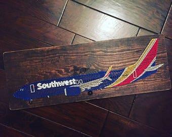 Southwest Airplane String Art Aviation