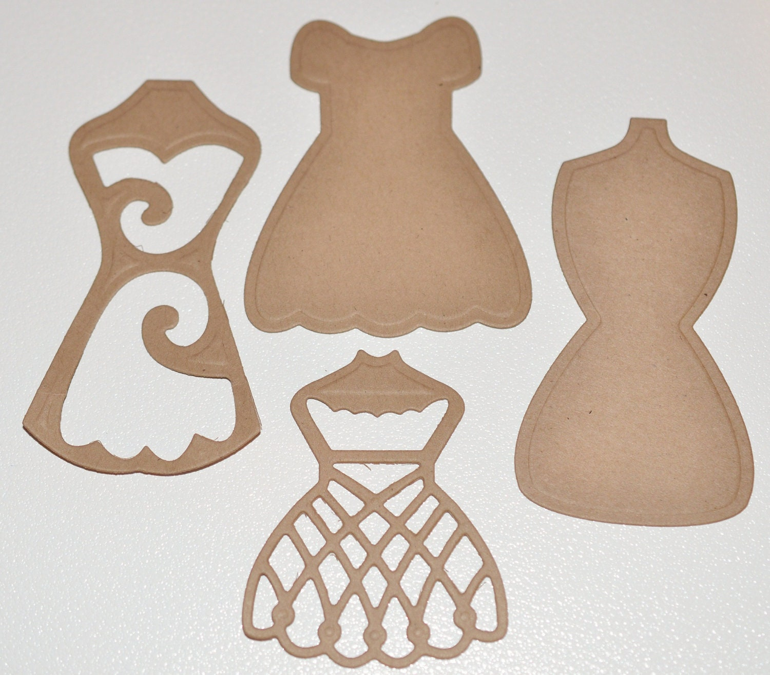 Dress Die Cuts Dressform Dress Form Spellbinders Scrapbooking