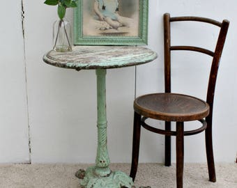 Antique , French, Garden, French Antique / Table / French Country / Antique Table / Cast Iron / Shabby Chic / Painted Table