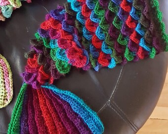 Crocheted Mermaid Tail Baby Cocoon