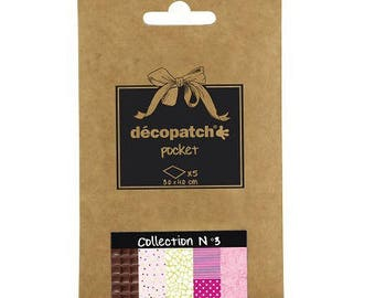 Set of 5 paper Decopatch 30 x 40 cm - Pocket Collection N 3 - Ref DP003 - until the stock!