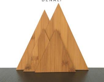 The Denali Mountain Collection, Alaska Mountain Decor, Triangle Cutting Boards, Eco Friendly, Kitchen Decor, Home Decor, Modern Kitchen