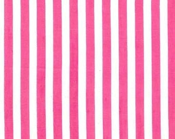 Michael Miller - Hollywood Pixies - Clown Stripe - Pink/White - CX3584 PINK D - 100% cotton fabric - Last yard