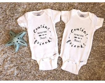 Adorable baby onesie - cousins