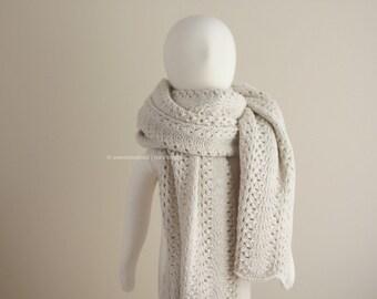 Knit Scarf, Lace Shawl, Lace Shrug
