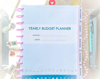 Monthly Budget Printable for Big Happy Planner PDF Letter Size Money Management Spending Budgeting Financial Debt Snowball Savings Planner