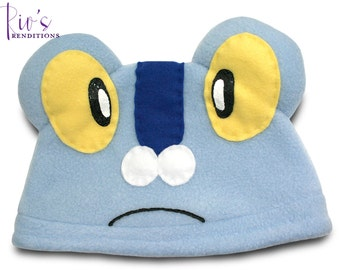 Pokemon - Froakie Hat / Fleece Hat / Winter Hat / Pokemon Hat / Fleece Pokemon Hat / Video Game Characters