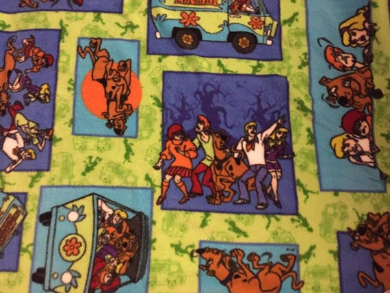 Handcrafted Fleece Scooby Doo Blanket Sets
