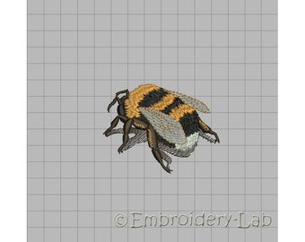 Bumble Bee 0001 - machine embroidery design