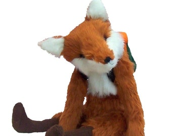 Foxy soft toy sewing pattern to make this charming fox