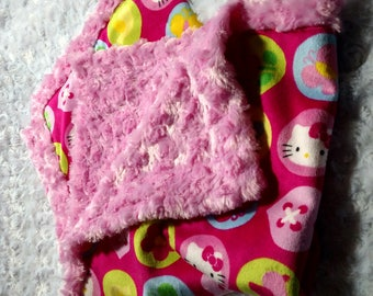 Minky Lovey baby security blanket Super soft