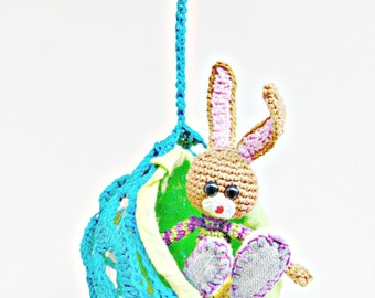 Crochet Bunny Pattern - Tristan, Crochet Bunny with Crochet Ball