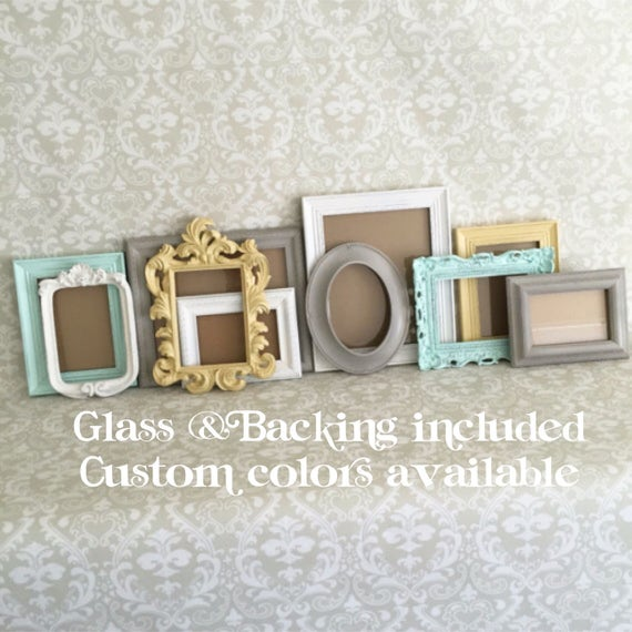 Custom Colors Gallery Picture Frames Vintage Style Shabby