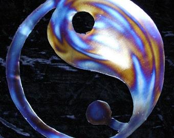 YIN YANG taoísmo símbolo Metal acento arte cuadros