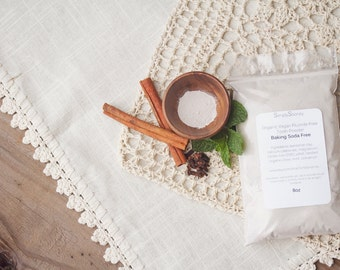 7oz BAKING SODA FREE Vegan Organic Fluoride Free Remineralizing Tooth Powder