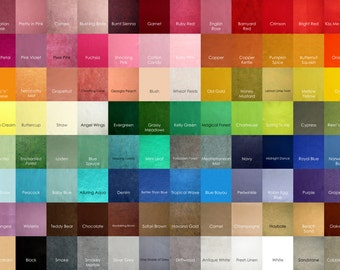 8 Sheets 12 x 12 in. - Wool Blend Felt Squares - Your Choice of Colors