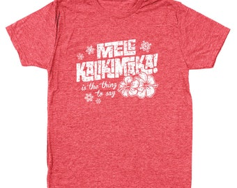 Mele Kalikimaka Funny Hawaii Christmas Griswold Vacation Men's Tri-Blend T-Shirt DT0216