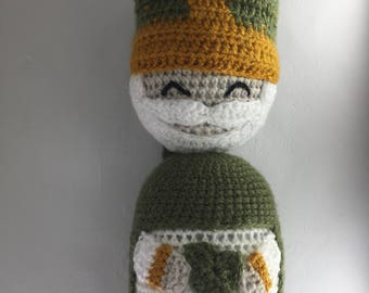 Amigurumi Crochet Pattern - Crochet Doll Pattern - PDF Pattern - Tutorial PDF - Instant Download - St. Patrick - Catholic Crochet Pattern