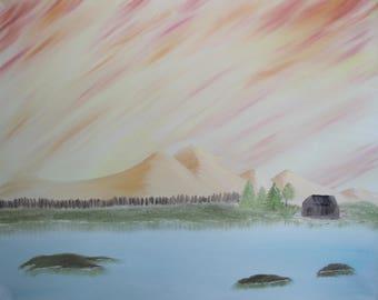 Original Landscape Oil Painting on Canvas -