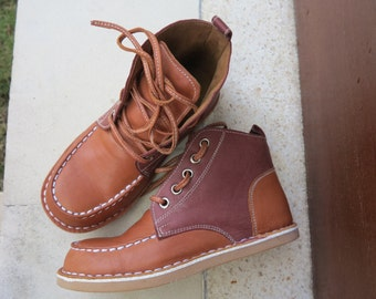 KIDS SHOES | Spencer Walker Boot/kids leather shoes/1st walker shoe/Toddler Shoes/EU 23 - 30
