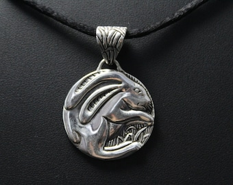 Sterling Silver Chinese Zodiac Year of the Rabbit Pendant