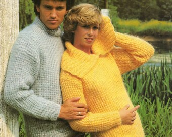 Knitting Pattern PDF His and Hers Sweaters