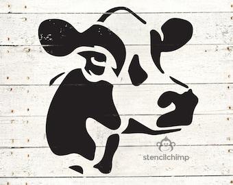 Cow Stencil - Farm Stencil   DIY Art Stencil