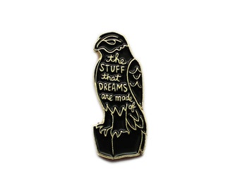 Maltese Falcon enamel lapel pin - the stuff that dreams are made of