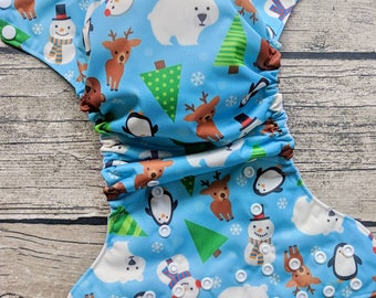 Winter Playground Ai2 Cloth Diaper
