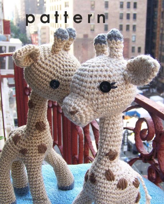 Crochet Pattern Baby Giraffe-Small Toy Crochet Pattern-Toy
