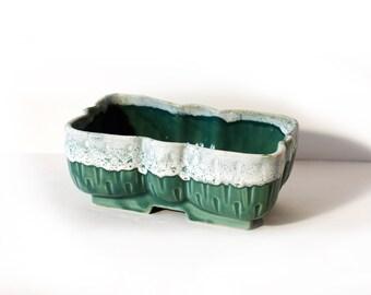 UPCO Green Pottery Planter by BigMuddyVintageShop