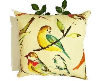 PILLOW COVERS | Birds Print Pillow Cover | Linen | Home Decor | ALPHONSINA
