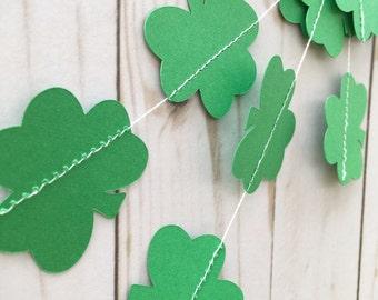 Shamrock Garland • St. Patrick's Day Decor • Green Clover Garland • Shamrock Party Decor • St. Patrick's Day Home Decor • Green Clover Decor