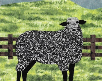 Shelby the Sheep out on the Farm - Blank Photo Note Cards in Sets of 4 or 8 Cards with Envelopes