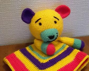 Bear Security Blanket - Lovey - Crochet
