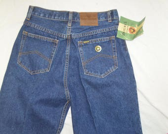 Vintage TEXWOOD High Waist Tapered Ankles Blue Jeans with original tags.