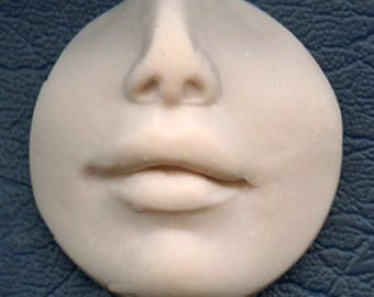 "Polymer Clay  1 1/4""   Fleshtone Nose and lips face Shard FLR 2"