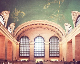New York City wall art, NYC photography, New York photograph, retro photography, dreamy NYC, New York decor - Grand Central Station