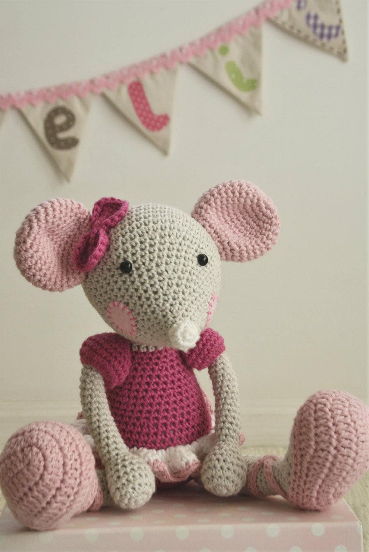 PATTERN - Ballerina-Mouse - crochet pattern, amigurumi pattern, 3 ...