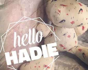 Hadie the Hippo ORGANIC Inside & Out Plush