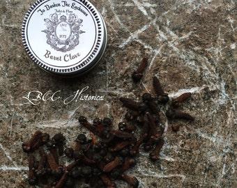 1772 Burnt Cloves To Darken The Eyebrows- Original Historical Recipe- Historical Label