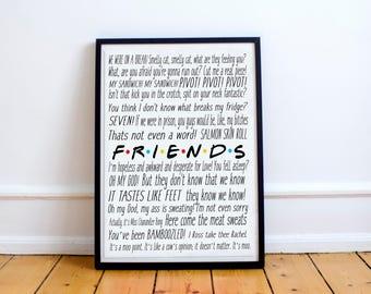Friends tv show birthday gift, Friends tv show art, Friends art poster,