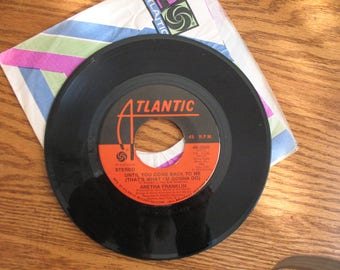 1973 vintage 45 R.P.M. record  Aretha Franklin