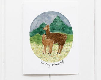 Llama Mothers Day Card / Mom Card / Greeting Card / Llama Card / Mother's Day Card / Mother's Day / Mom Birthday Card / Pun / Funny Card