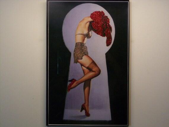 Glittered Poster - Peeping Tom