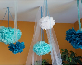 Tissue Paper Poms 14 Inch Choose Your Own Color