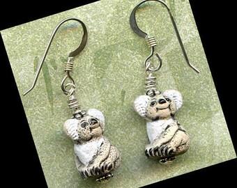 Koala Bears Sterling Silver Earrings