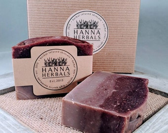 Relaxing Herbal Soap - Lavender Soap - Jasmine Soap - aromatherapy - Relax Soap - purple soap - calming soap - vanilla soap - Hanna Herbals